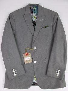 ROBERT-GRAHAM-MENS-ROBERTS-GREY-WHITE-PIN-STRIPED-SPORT-JACKET-COAT-40-NWT-598