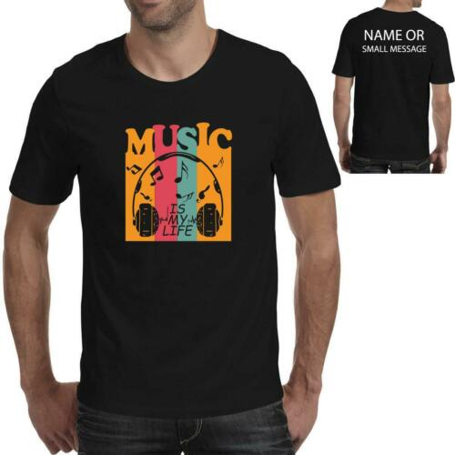 lifeline is Music is my life Mens Printed T-Shirts