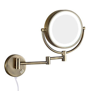 10x 1x Magnification Extend Wall Mount Lighted Makeup
