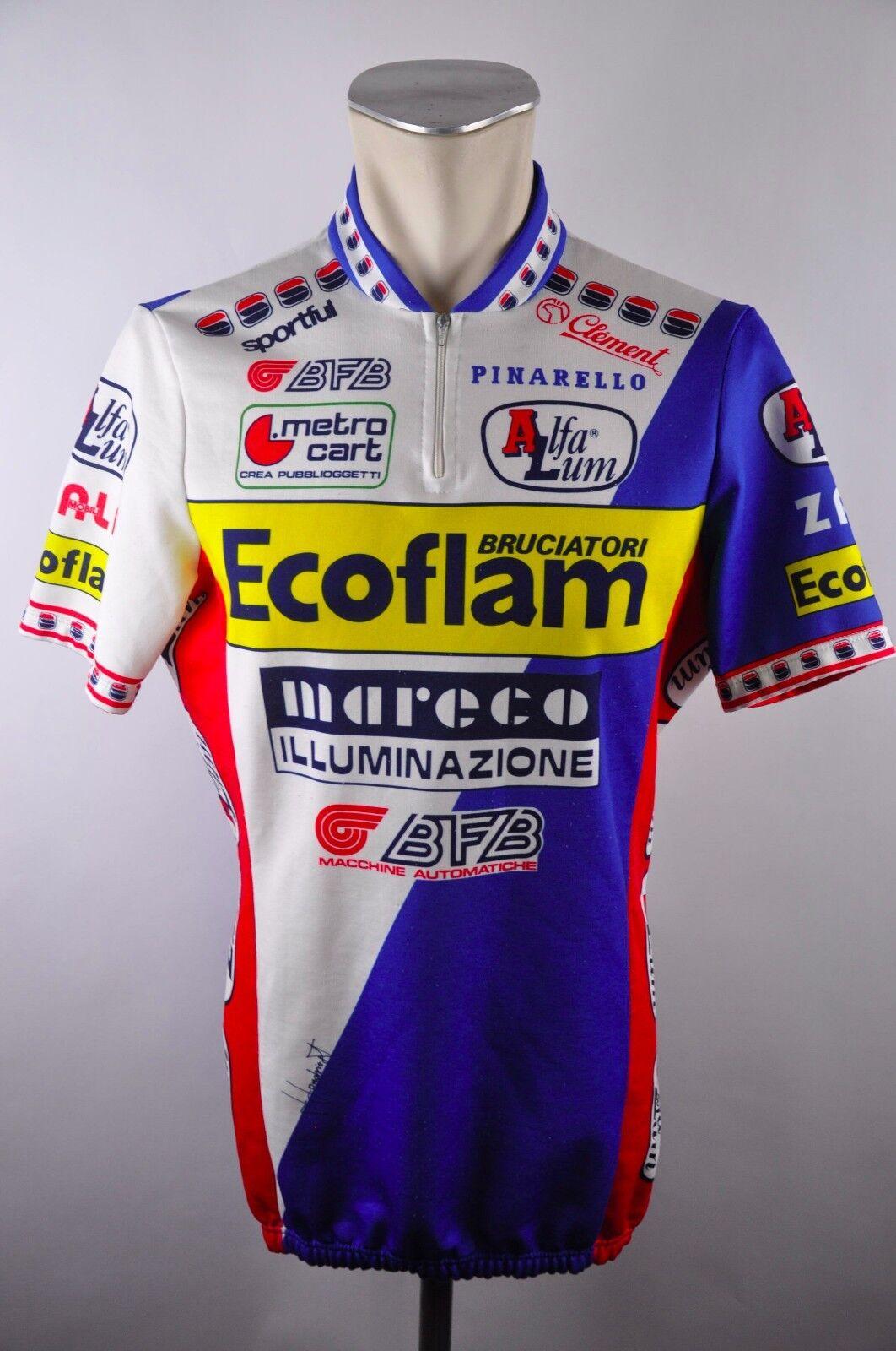 ECOFLAM Sportful 80er 90er cycling maglia Rad Trikot Gr. XL 56cm 01E