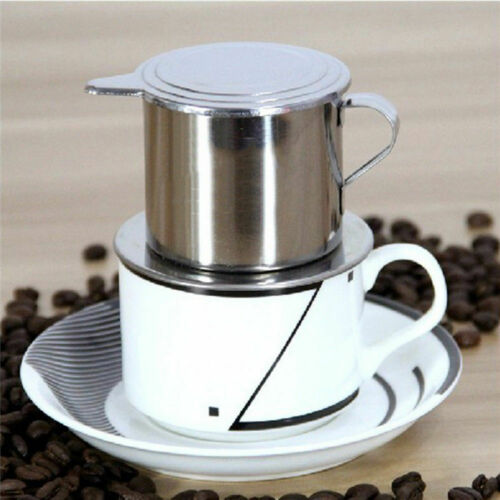 1 Pz Acciaio Inox Vietnam Vietnamita Caffettiera Drip Filtro Caffè Maker Nuovo