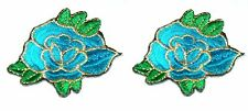 Two Flowers Embroidery Sew, Iron On Patch for Clothes, Jeans, Bag DIY