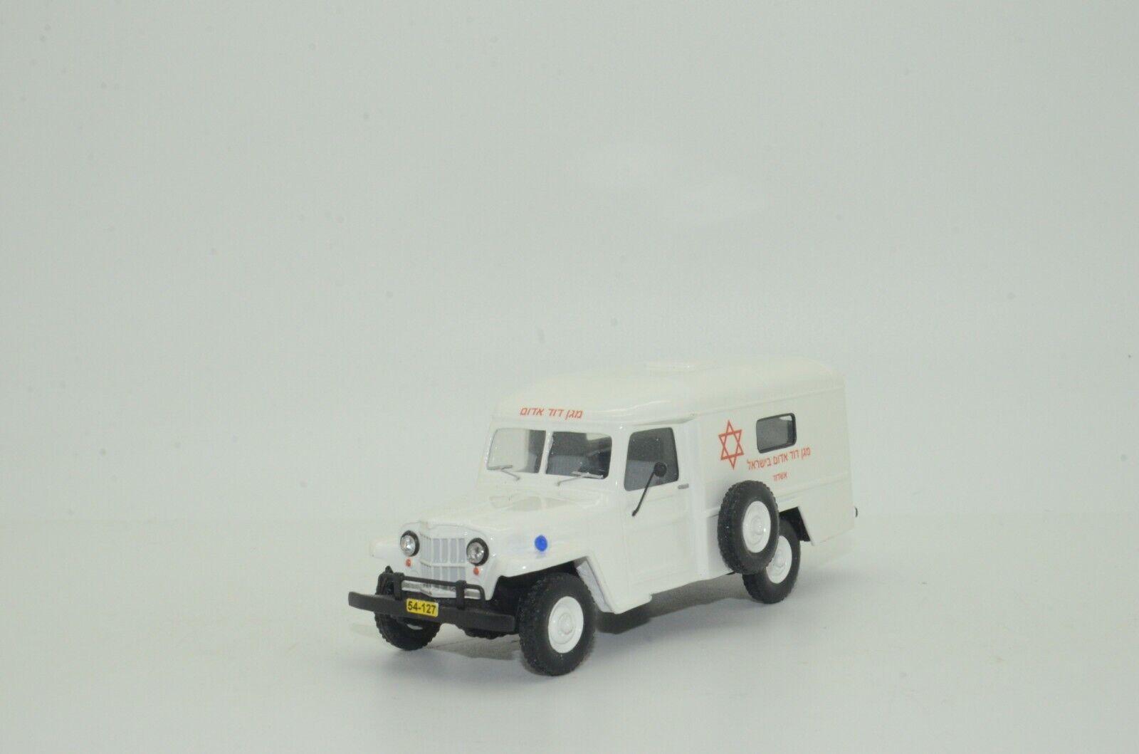 Rare    Willys Jeep Israel Ambulance Hand Made Vector Models 1 43