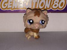 Littlest PetShop CHIEN CHOWCHOW MARRON ET BEIGE 1983 D002 DOG CHOW CHOW Pet Shop