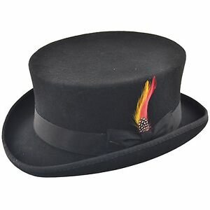 b8821859f05 Deadman Dressage Topper Riding 100% Wool Top Hat with Removable ...