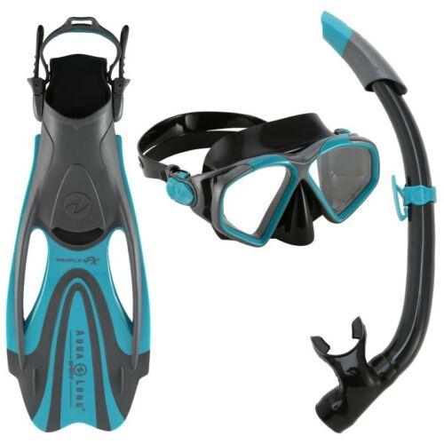 Zinger Proflex Flosse 40-44 Erwachsene türkis Aqua Lung Schnorchel Set Hawkeye