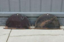 Original 1936 Ford Accessory Rear Flush Mount Steel Fender Skirts Pair Rare
