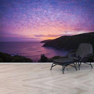 Details zu Lila Ozean Fototapete Neuseeland Sonnenuntergang Tapete  Schlafzimmer Haus Dekor