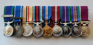 Court-Mounted-Miniature-Medal-GSM-IFOR-Iraq-Afghanistan-Jubilee-ACSM-LSGC