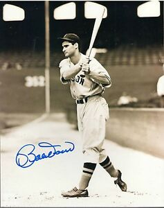 Bobby Doerr Red Sox autograph 8x10 photo AT BAT HOF Hall of Fame