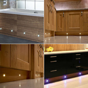 Details About Led Decking Lights Plinth Kitchen Bathroom Deck Garden Lighting Pathway