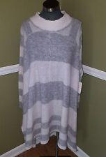 New Free People Grey's  Womens Size M/L Asymmetrical Sweater Dress - Shirt $168