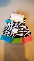 Little Mismatched Ankle Socks 6-8 Cheetah Print Colorful Fun (pack Of 3)