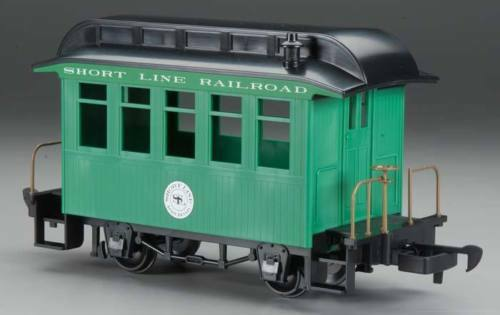 Bachmann 97093 G SCALE Short Line PASSENGER Coach Car Green NEW IN ORIGINAL BOX