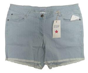 Nuovo-Taglie-Forti-Sexy-Jeans-Donna-Pantaloncini-Hot-Pantaloni-Frange-Gr-50-52
