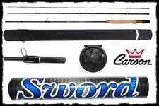 canna pesca a mosca sword 3 sezioni + mulinello trota cavedano torrente lago