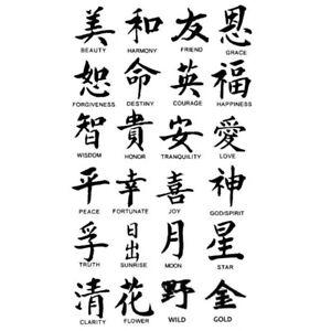 Chinesische Tattoos Bedeutung