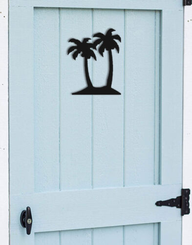TROPICAL WALL HANGINGS CLINGERMANS NAUTICAL DECOR TWO PALM TREE SIHLOUETTE
