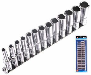 Bluespot-Metric-Deep-Socket-Set-Long-Reach-Sockets-On-Rail-3-8-034-Drive-6-19mm