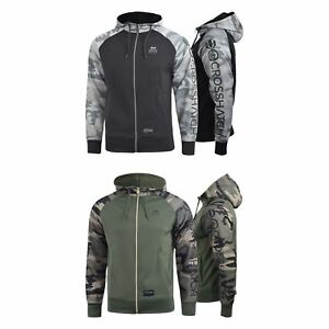 Mens-Hoodie-Crosshatch-Leymoor-Zip-Hooded-Top