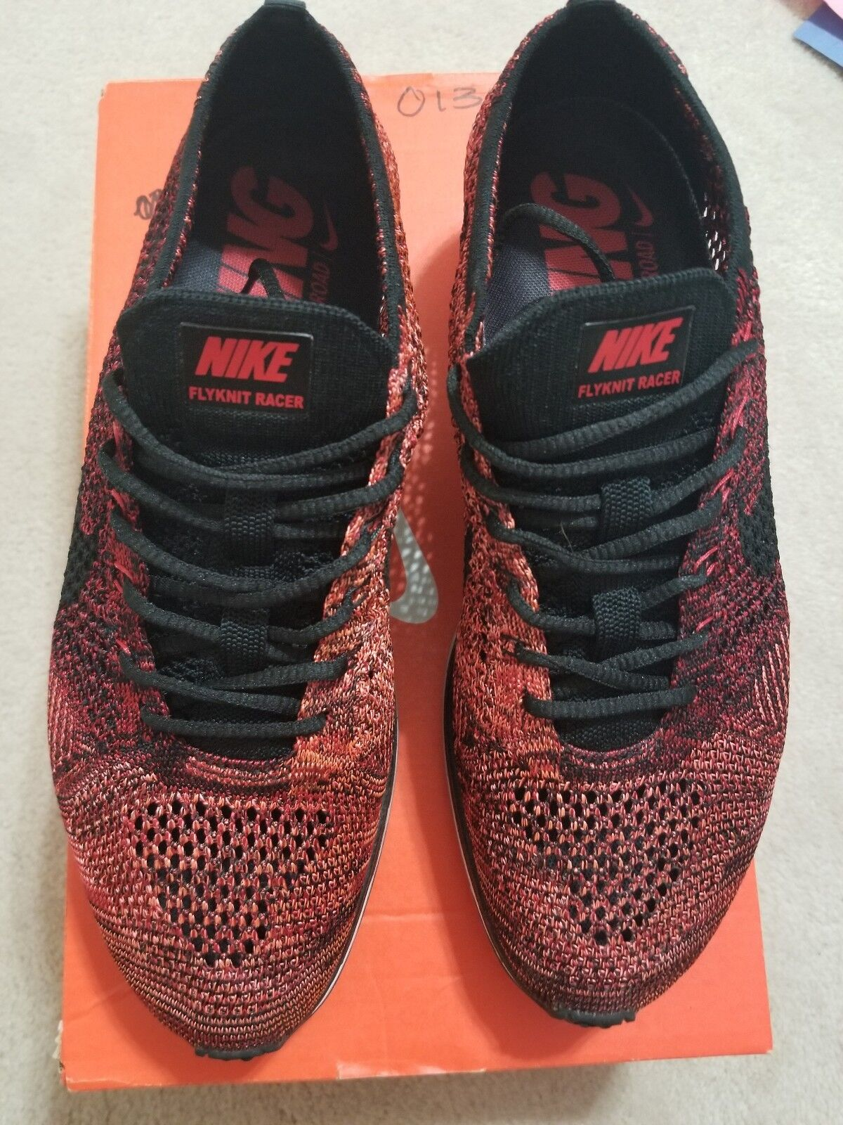 Nike Flyknit Racer University Bright Red Black 2018 Multicolor VNDS Air Max