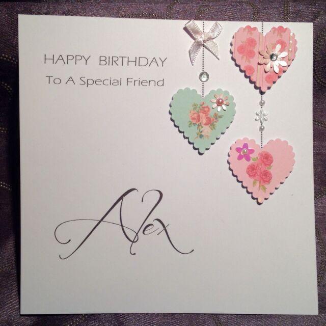 PERSONALISED Handmade BIRTHDAY Card MUM SISTER NAN FRIEND DAUGHTER H1