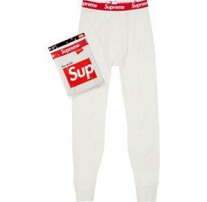 996056d0b533 SUPREME x Hanes Thermal Pants (1 Pack) White M box logo camp cap F W ...