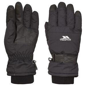 Trespass-Gohan-II-Warm-Kids-Ski-Gloves-Winter-Black-Childrens-Skiing-Gloves