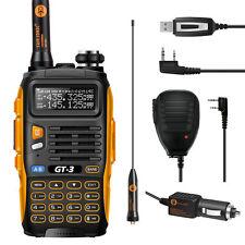 Baofeng GT-3*Mark II*UHF/VHF 2m/70cm Hand-Funkgerät+Lautsprecher+Kabel PMR Radio