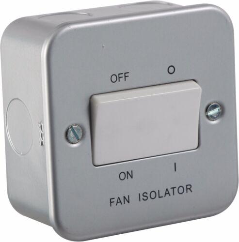 10A 1G triple poste 230V Metal interruptor de aislador de Ventilador revestido para hoteles y empresas