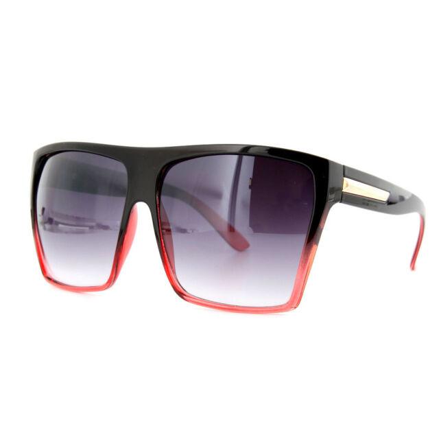Square Flat Top Large Sunglasses Big Oversized Huge Gradient Frame Women Aviator