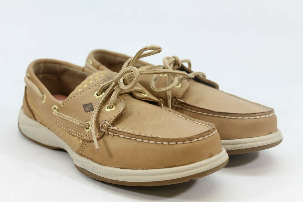 Sperry Intrepid Women's Gold Loafers (ZAP7253)