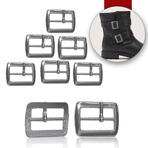 Metal-Plata-Hebillas-Ajustable-Cierre-Recambio-Cuero-Manualidades-Zapatos-20mm