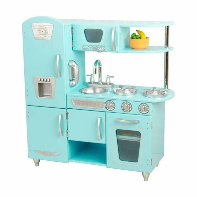 Kidkraft Vintage Play Kitchen Blue 53227 For Sale Online Ebay