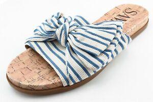 Sam & Libby Size 6 M Blue Slide Fabric Women Sandal Shoes