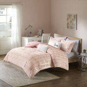 Image Is Loading Beautiful Modern Chic Pink Gold White Love Geometric