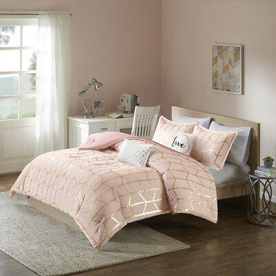 Fun Cozy Modern Chic Pink Gold White, Pink And Rose Gold Bed Sheets