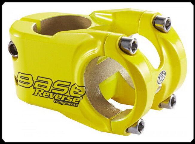REVERSE Base 40mm Ø31,8mm, MTB  Downhill Freeride Vorbau, gelb