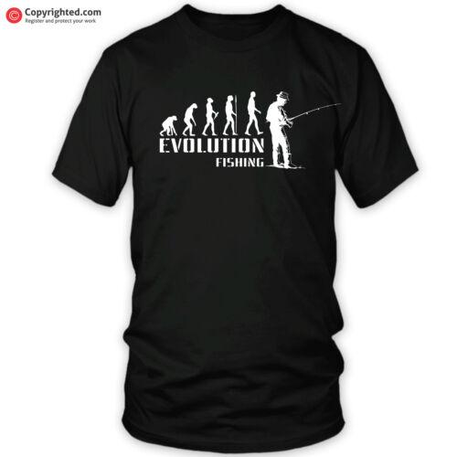 Evoluzione della pesca carpa luccio pesce gatto ANGLER FLY filatura T-Shirt Tutte Taglie S-XXL