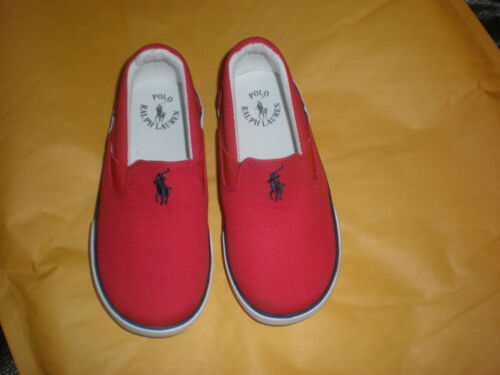 TODDLER SIZE 6 RALPH LAUREN  RED POLO CANVAS SNEAKERS