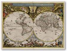 Antiguo Mapamundi 1664 de Blaeu - 74x57cm. - Poster