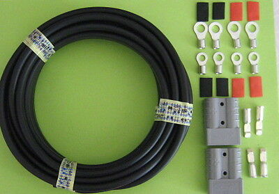 5 metre TYCAB TWIN SHEAT CABLE 6B&S 13.5mm2 & 2X ANDERSON & 8 LUGS S10-6/8