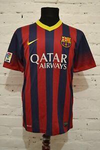 BARCELONA-FC-2013-2014-HOME-FOOTBALL-SHIRT-SOCCER-JERSEY-CAMISETA-MENS-M