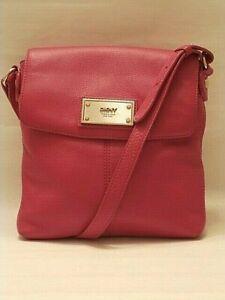 DKNY-Pink-Leather-Cross-Body-Shoulder-Bag
