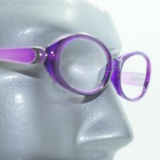 Fun Reading Glasses See Thru Purple Grape Jelly Whimsy Oval Frame +1.50 Lens