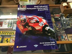OFFICIAL-MALAYSIAN-SEPANG-2009-POSTER-FEATURING-NICKY-HAYDEN-MINT-CONDITION