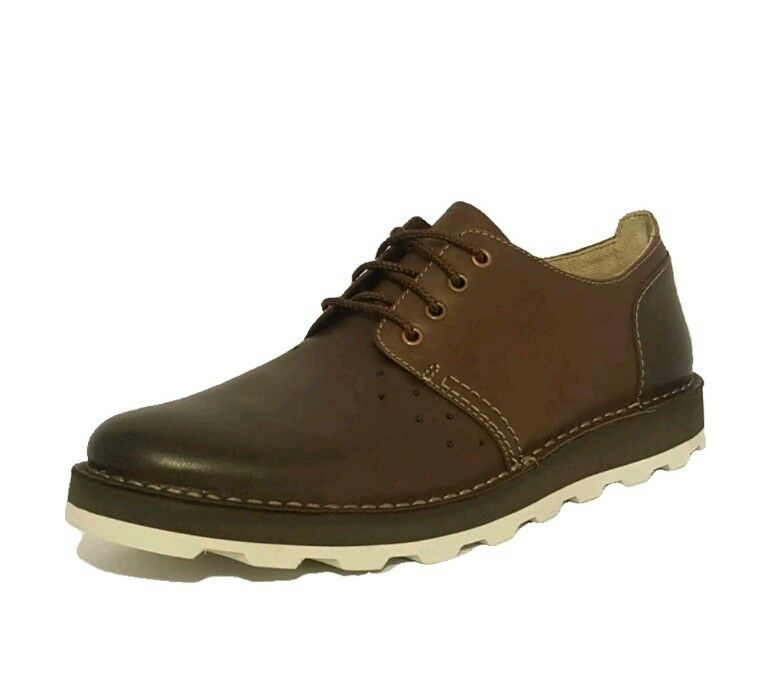 CLARKS  DARBLE WALK  BROWN GENUINE LEATHER CASUAL LACE UP SHOES MENS UK SIZE 9.5