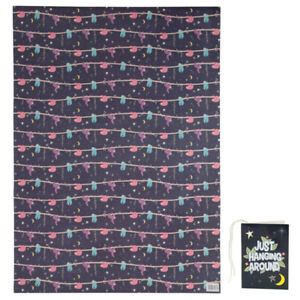 Details About WRAPPING PAPER SLOTH 70 X 50 CM SENT FOLDED WITH TAG GIFTS BIRTHDAY XMAS