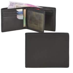 514defa367e72 Das Bild wird geladen  Esquire-Geldboerse-Logo-Herren-Leder-schwarz-Portemonnaie-Geldbeutel-
