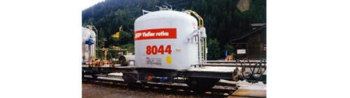 Bemo 9452 139//9452139 Schmalspur-Zementsilowagen Uce8069 RhB grau rotes Band Om